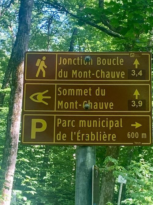 Panneau du Parc national du Mont Orford LM Le Québec