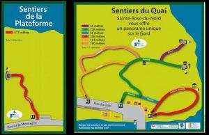 Sentiers pedestres de Sainte Rose du Nord LM Le Québec