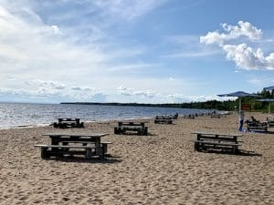 La plage du parc de la Pointe Taillon LM Le Québec