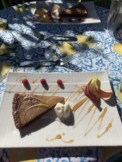 Exemple de dessert au gite LM Le Québec