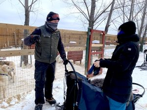 Formation de conduite de traineau à chiens