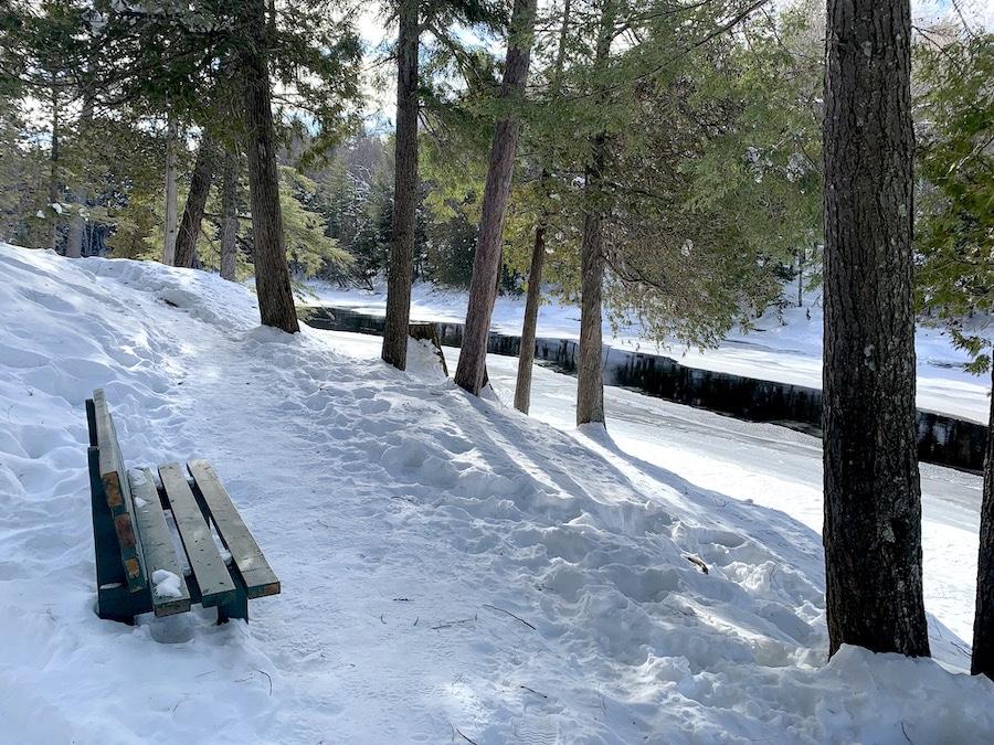 Parc des Chutes Dorwin en hiver