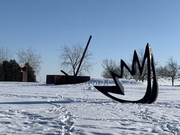 Sculpture du parc Rene Levesque oeuvres dart de Gilles Boisvert Pierre Leblanc et de Jean Pierre Morin LM Le Québec
