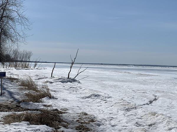 Lac Saint Louis gele LM Le Québec