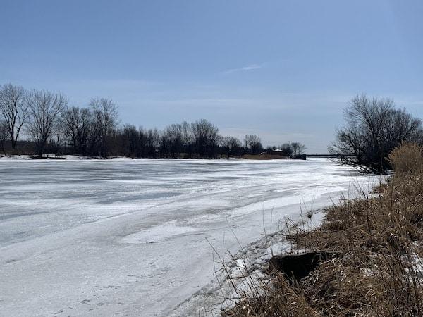 Rivière Chateauguay en hiver