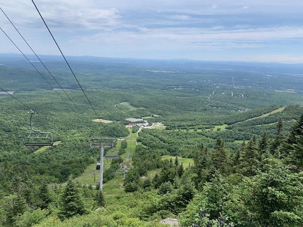Vue du Belvedere Mont Megantic LM Le Québec