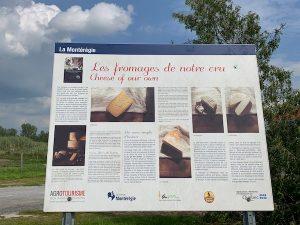 Panneau informatif de la fromagerie Au gre des champs LM Le Québec
